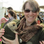 Deborah with a Cuddly Bunny
