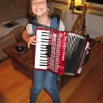 Jade Playing Melanie's Accordion