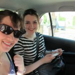 Melanie and Anna Driving to Dobris