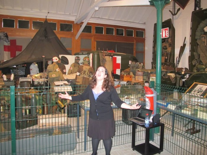 Performing at the WWII museum in Diekirch