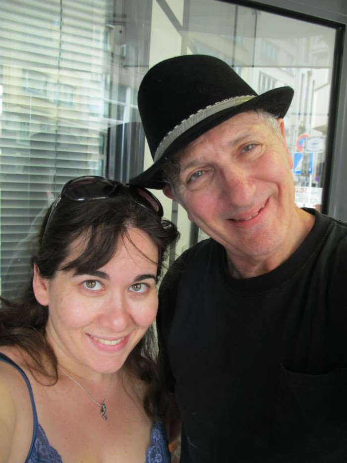 With artist Frank Shifreen