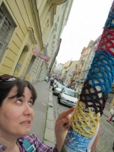 Prague Yarn Bomb