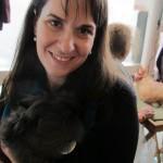 Deborah and a bunny