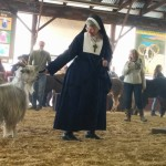 Nun at Leaping Llama Competition