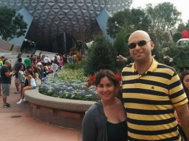 Melanie and Chad at Epcot