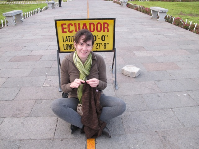 Knitting on the Equator!