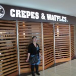 Melanie found a Crepes & Waffles restaurant