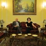 Deborah with the Egyptian Ambassador