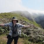 Deborah on top of Sierra Negra