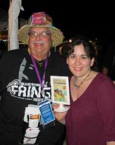 Melanie at the Orlando Fringe theatre festival