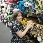 Deborah at Mood fabric store