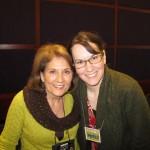 Deborah with a listener