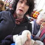 Deborah overwhelmed by yarn... I mean, the decision!