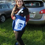 Melanie and her great TARDIS bag
