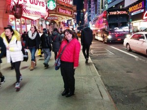 Melanie in Times Square