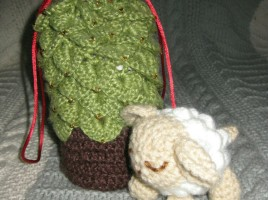 Amigurumi Sheep and Xmas Tree Purse