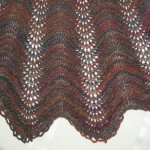 Edge of Feather and Fan Shawl